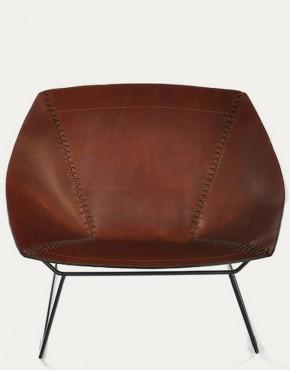Stitch chair sedia in pelle e acciao