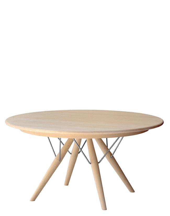 Pp 75 tavolo tondo allungabile in legno hans wegner for Tavolo tondo legno