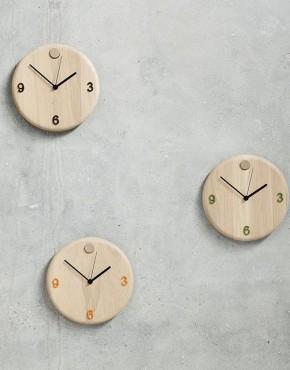 orologio da parete in legno - design nordico