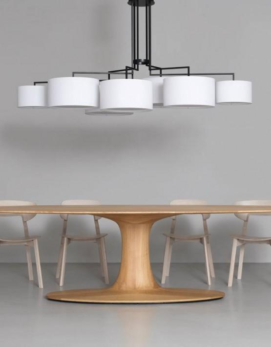 Turntable tavolo ovale in legno zeitraum design nordico for Tavolo rotondo nordico