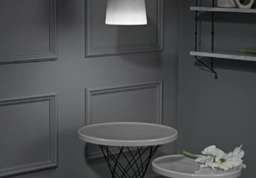 La nuova collezione di tavoli e lampade in porcellana di Ox Denmarq